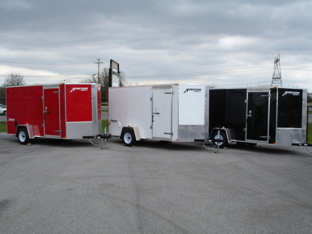 Patroit Vee  Nose Enclosed Trailer Ramp Door 36 Cargo Trailers