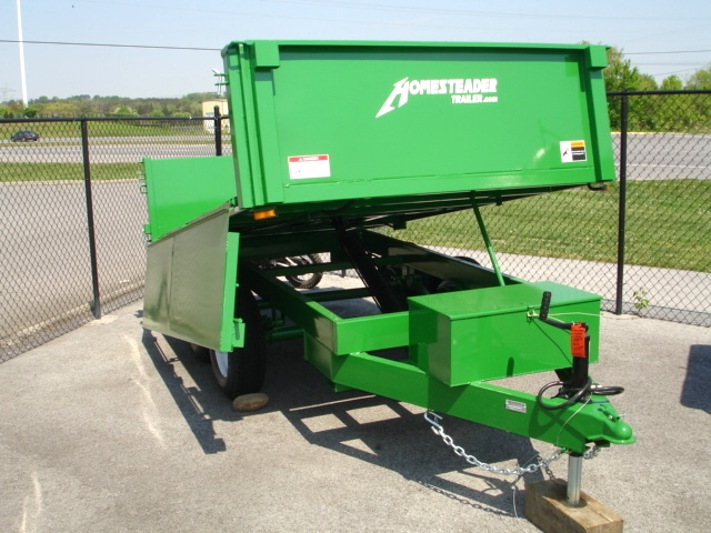 6 X 10  Homesteader Dump Trailer  Drop Down Side Cargo Trailers