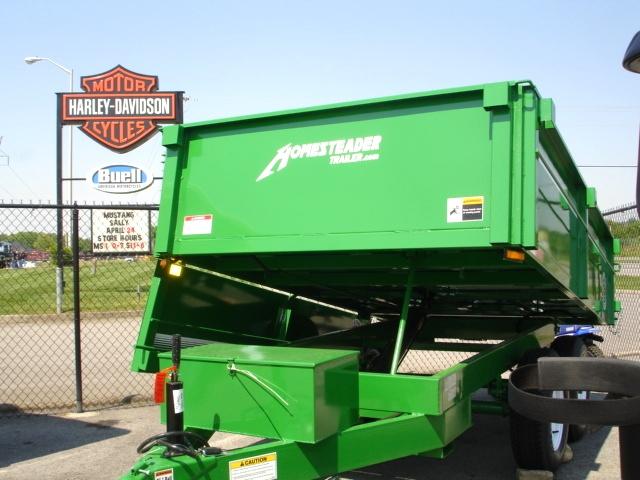 6 X 10  Homesteader Dump Trailer  Drop Down Side Cargo Trailers