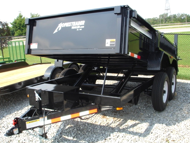 7X12 HX Homesteader Dump Trailer includes a Pair of 6'Ramps Cargo Trailers