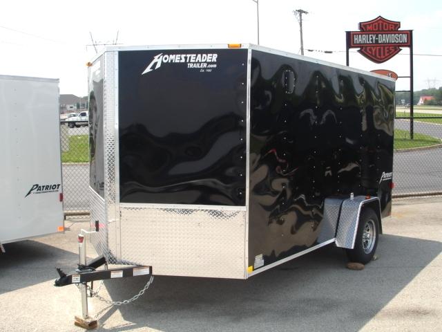 2018 7 X 12 Homesteader Patriot V Nose Enclosed Trailer Cargo Trailers
