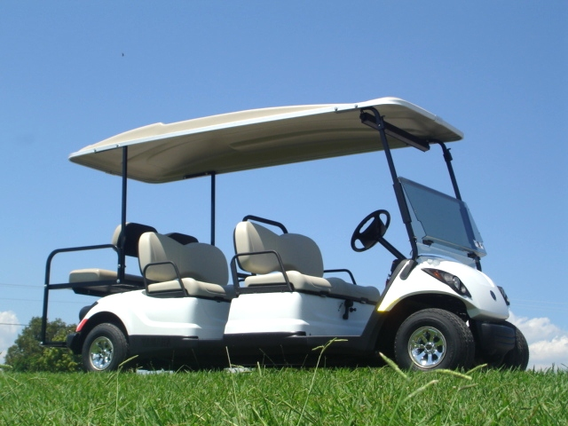 Yamaha Concierge 4-Passenger with Rear Facing Seat TN Golf Cars
