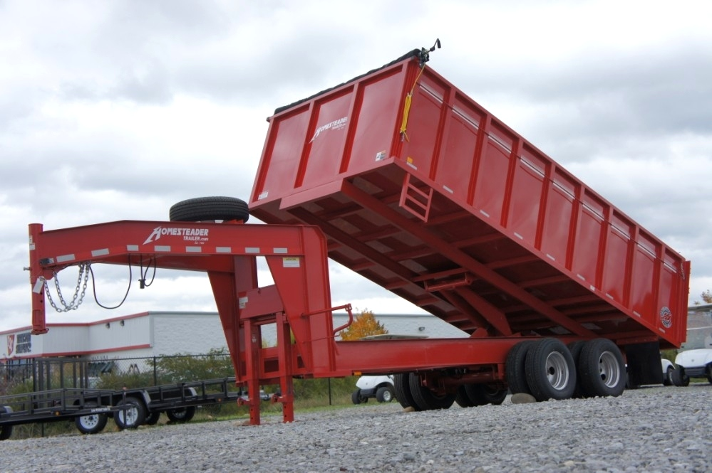 Homesteader Dump Trailer 8 X 18 Cargo Trailers