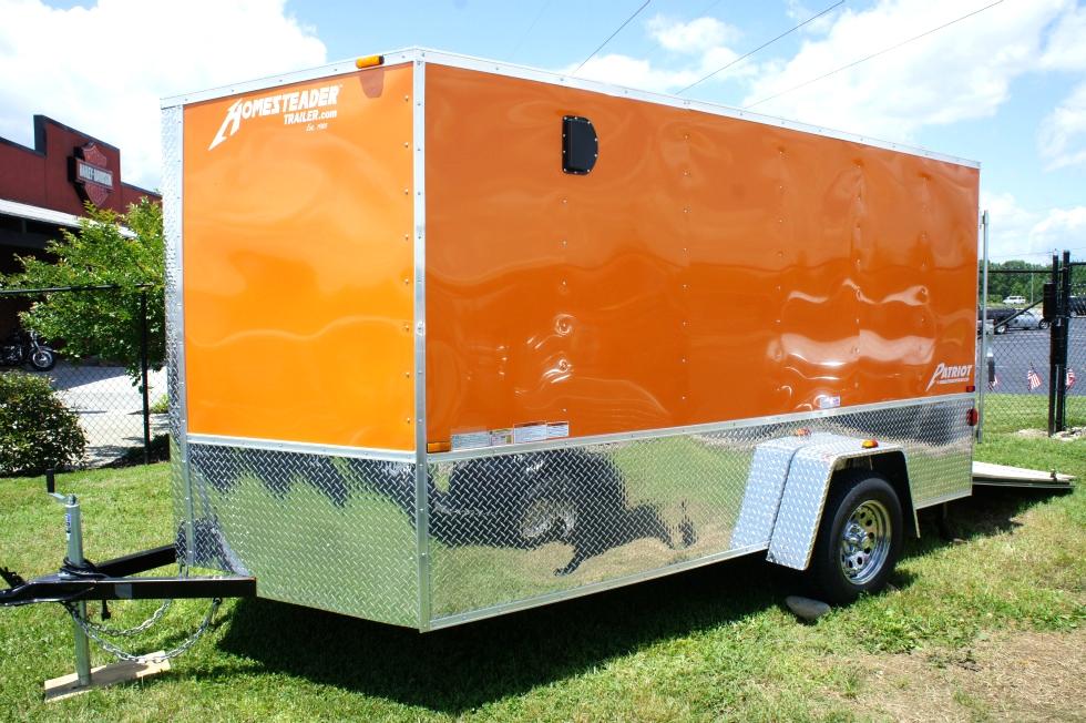 2015 Homesteader Enclosed Trailer Ramp Door Pkg  Cargo Trailers