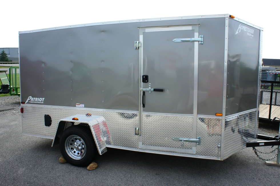 7 X 12 Homesteader Enclosed Custom Trailer With Bike Pkg Cargo Trailers