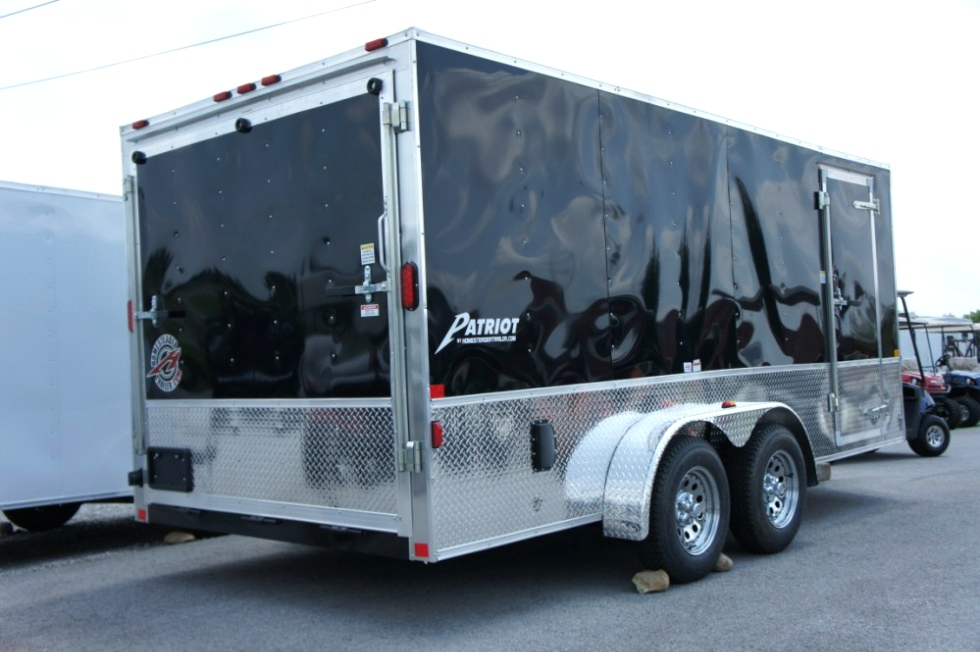 Homesteader 7 x 16 Enclosed  Trailer with Deluxe Pkg In Stock Ready for Delivery Cargo Trailers