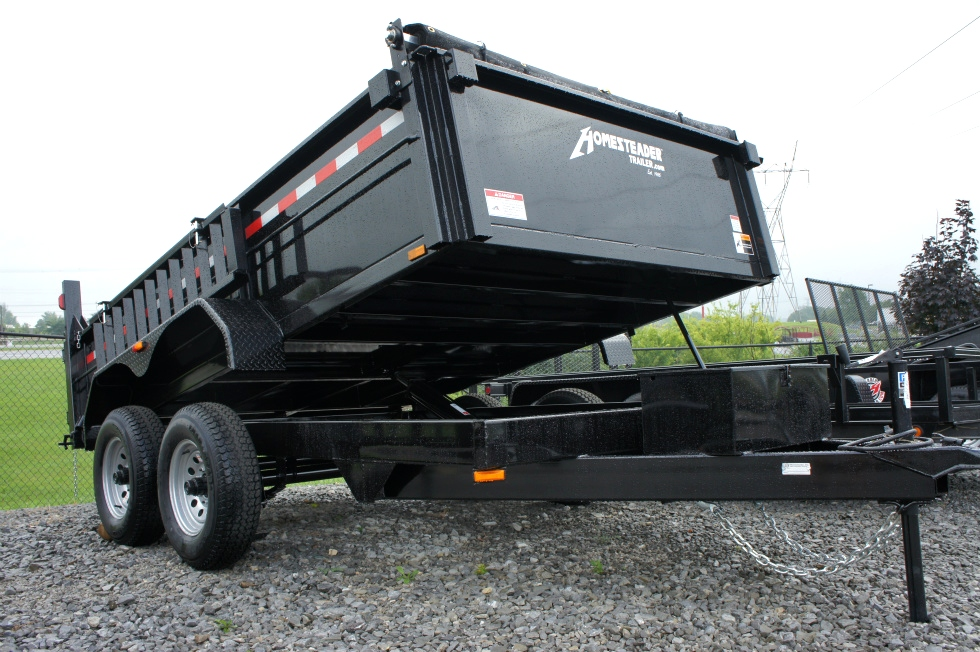 Dump Trailer 7 X 12 Equipment Hauling Pkg Cargo Trailers