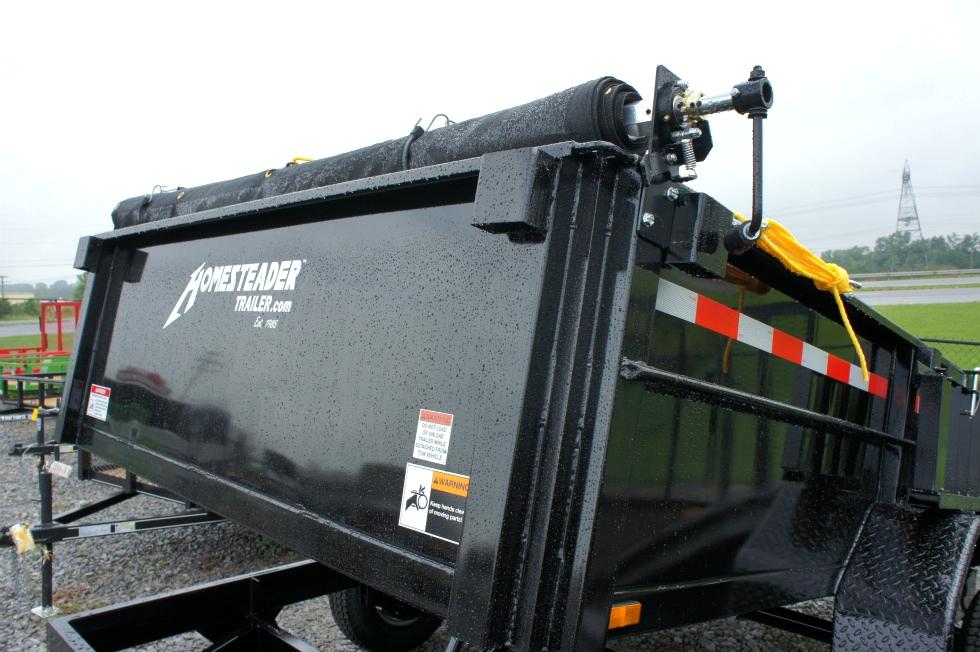 Dump Trailer 7 X 12 Equipment Hauling Pkg Cargo Trailers
