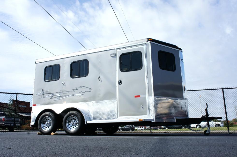 Homesteader Stallion 2 Horse Front Load-Bumper Trailer  Cargo Trailers
