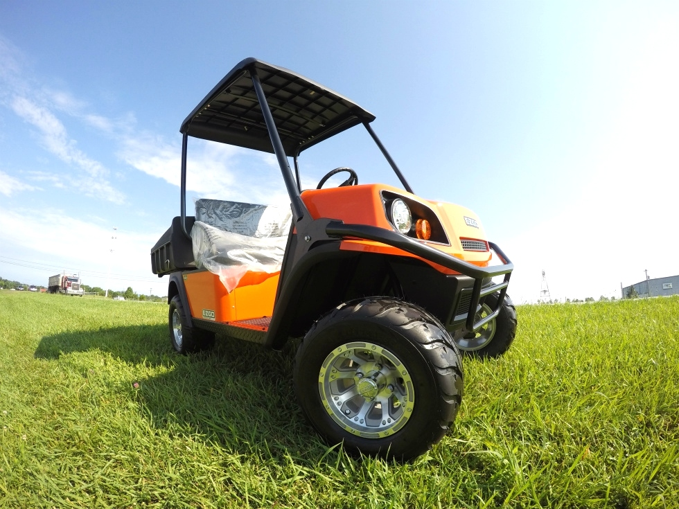 EZGO Terrian 250 Utility Cart Golf Car New Alum Wheel Pkg  TN Golf Cars