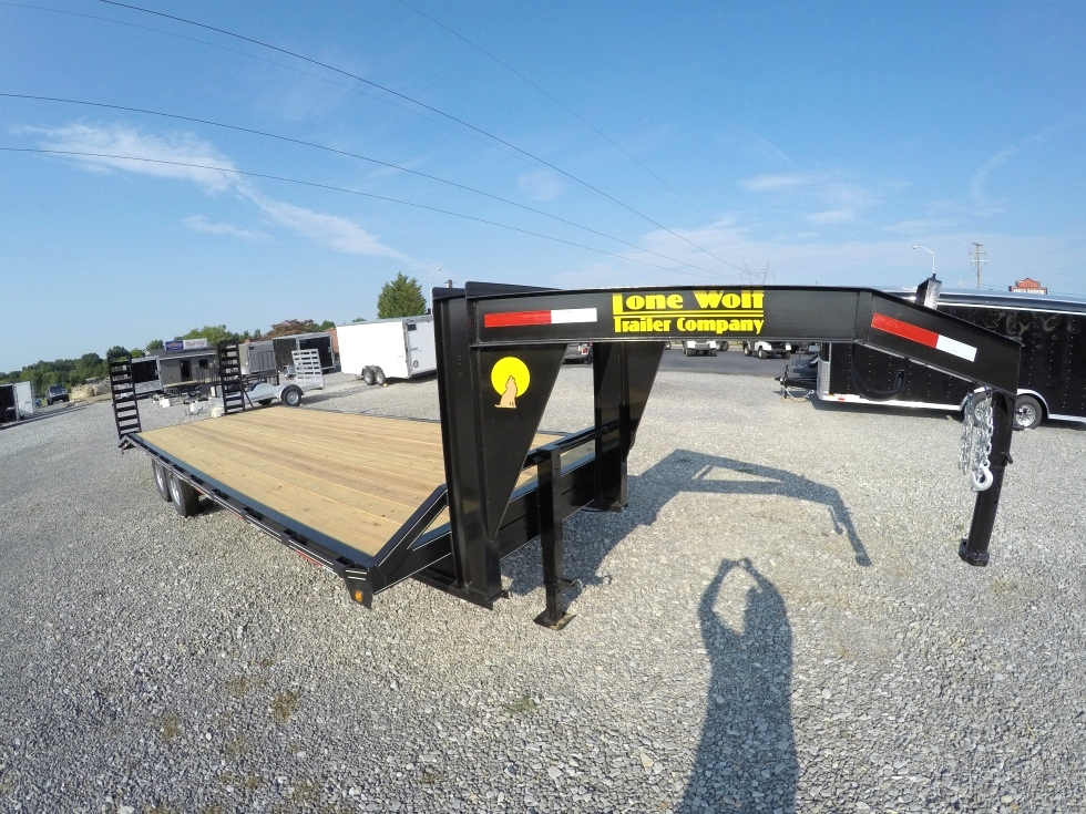 Lone Wolf Gooseneck Trailer In Stock Ready to Roll Cargo Trailers